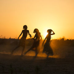 Sunset Tribal Dance