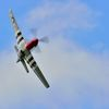 P-51 Red Tail mustangon Air Show; Branford